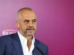 Leader of the Albanian Socialist Party Edi Rama speaks during a news conference after the elections, in Tirana June 25, 2013. REUTERS/Arben Celi
