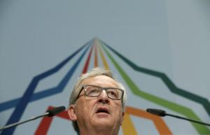 President of the European Commission, Jean-Claude Juncker speaks during a joint news conference at Elmau Castle, Germany, June 7, 2015. REUTERS/Christian Hartmann