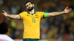 NEWCASTLE, AUSTRALIA - JANUARY 27: Mile Jedinak of Australia reacts to the referees decision during the Asian Cup Semi Final match between the Australian Socceroos and the United Arab Emirates at Hunter Stadium on January 27, 2015 in Newcastle, Australia. (Photo by Tony Feder/Getty Images)