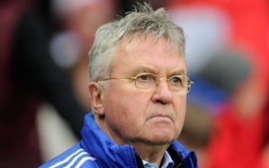 Editorial use only. No merchandising. For Football images FA and Premier League restrictions apply inc. no internet/mobile usage without FAPL license - for details contact Football Dataco Mandatory Credit: Photo by Joe Toth/BPI/REX/Shutterstock (5579341bh) Chelsea manager Guus Hiddink during the Emirates FA Cup 4th round match between MK Dons and Chelsea played at Stadium MK, Milton Keynes on January 31st 2015 The Emirates FA Cup 2015/16 Fourth Round MK Dons v Chelsea MK Dons Stadium, Bletchley, United Kingdom - 31 Jan 2016