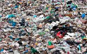 Recycling yard where organic waste is turned gas